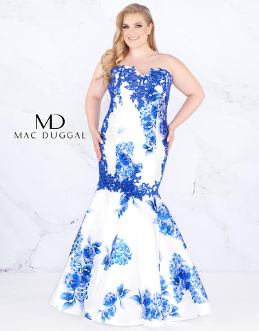 Fabulouss by Mac Duggal 77173  removable skirt mermaid prom dress sizes 14, 18