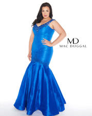 Fabulouss by Mac Duggal 77178 Royal Blue Size 16 Prom Dress Pageant Gown