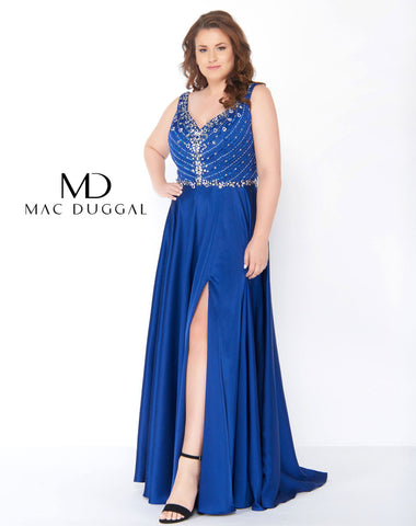 Fabulouss by Mac Duggal 77391 Royal blue Size 18 Prom Dress Pageant Gown