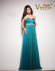 Vienna Prom 8006 size 16 peacock Prom Dress Pageant Gown Iridescent Long Plus