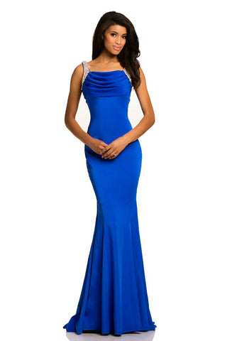 ca847b1a7e Johnathan Kayne 8079 scoop neckline prom dress size 0 Royal –  GlassSlipperFormals