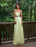Vienna Prom 8187 Yellow Size 4 prom dress Sheer Embellished Evening Gown