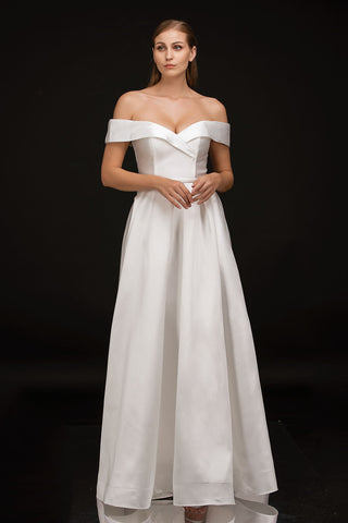 Nina Canacci B1901 off the shoulder straps with sweetheart neckline A line prom dress pageant gown evening dress or informal destination wedding or bridal gown Color Diamond White  Sizes  0, 2, 4, 6, 8, 10, 12, 14, 16, 18, 20, 22, 24