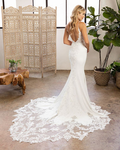 Beloved by Casablanca Bridal BL327 fit and flare bridal gown wedding dress Emerson