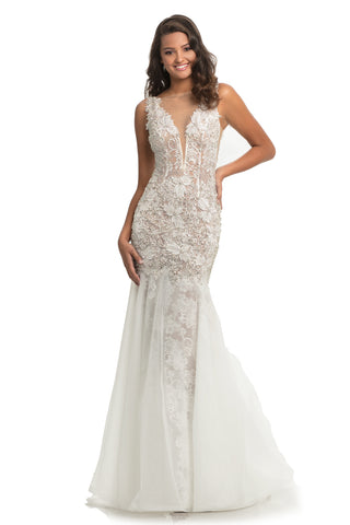 Johnathan Kayne 9035 Sheer Lace Sexy Wedding Mermaid Prom Dress Pageant Gown 2020
