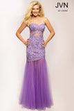Jovani JVN 93583 Size 6 Sheer Lace Corset Mermaid Prom Dress Pageant Gown