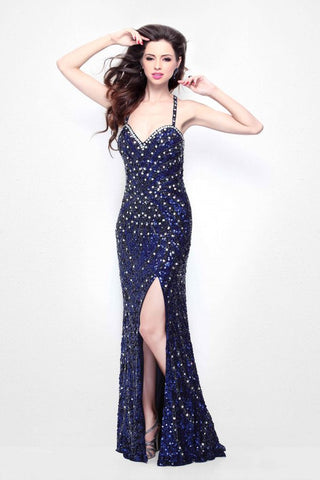 Primavera Couture 9976 sweetheart neckline long Embellished long Prom dress Midnight size 2