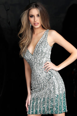 Jovani 2804 beaded homecoming dress