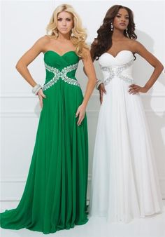 Tony Bowls 11412 Size 12 Long Chiffon Prom Pageant Dress Crystal Embellished Strapless