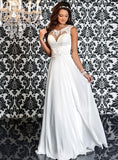 Adagio Bridal D 9150 size 12  Ivory Chiffon Sheer Lace Wedding Dress Bridal Gown Open Back