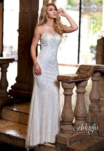 Adagio Bridal D9226 embellished lace bridal gown