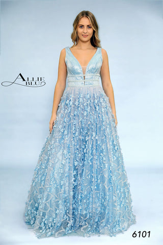 Allie Blu 6101 Peach and Blue sizes 0-14