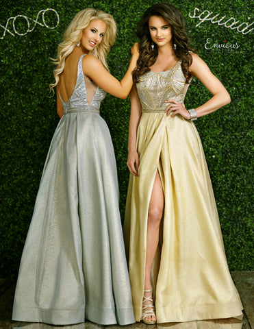 Envious Couture 1406 Karishma Creations Shimmer Long Prom Dress 2020 Ball Gown