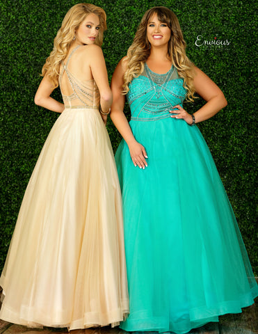 Envious Couture 1446 Size 24 Embellished Ball Gown Prom Dress 2020 Plus Size Tulle