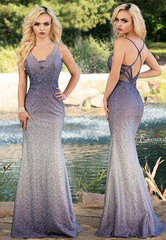 Envious Couture 1603 shimmer sequins fitted mermaid prom dress pageant gown