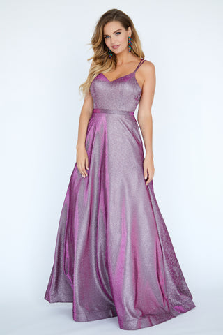 Jolene Exclusive E20028 Long Glitter Shimmer Ballgown V Neck Prom Dress Gown