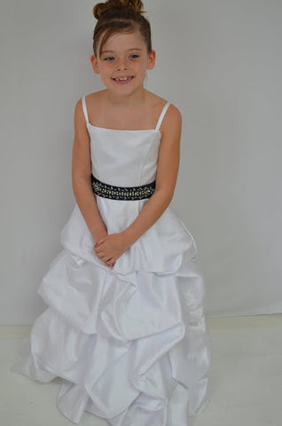 GSF 3001 Flower Girl Dress pickups white size 6
