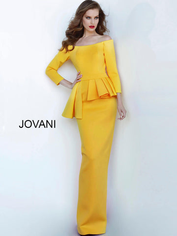 Jovani 2144 Off the shoulder fitted evening dress