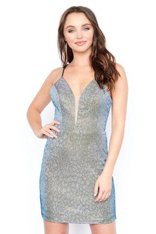 Jolene 19534 short fitted homecoming dress