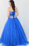 GSF4031B Two Piece Ballgown Royal Blue size 2, 18