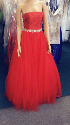 JVN by Jovani 66687 size 0 Red Prom Dress Pageant Gown