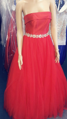 JVN by Jovani 66687 size 0 Red Prom Dress