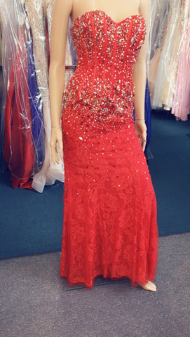 Prom Dress Pageant Gown lace crystal