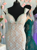 Johnathan Kayne style 535 Aqua size 4 prom dress pageant gown