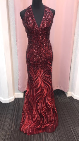 JVN by Jovani 66261 Burgundy Size 22