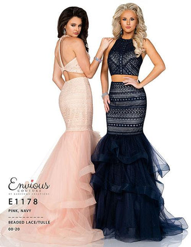 Envious Couture E1178 two piece mermaid prom dress
