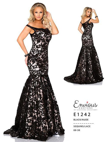 Envious Couture E 1242 Black/Nude Sizes 00-30