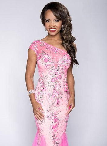 Envious Couture 15114 Hot Pink Sizes 4, 8, 10, 12 Prom Dress Pageant Gown