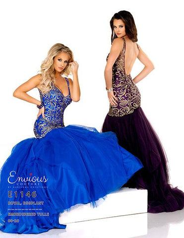 Envious Couture E1146 embroidered mermaid prom dress