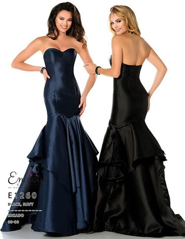 Envious Couture E 1260 Black and Navy Sizes 00-30