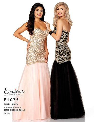 Envious Couture 1075 Black Size 18 Lace Mermaid Prom Dress Plus Size Gown
