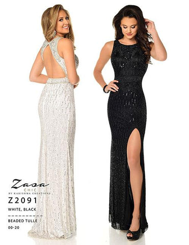 Envious Couture Z2091 White Size 6