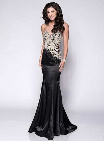 Envious Couture 15140 Black and Gold Size 4