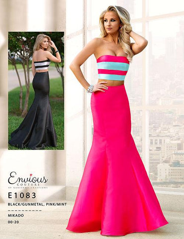 Envious Couture E1083 two piece mermaid prom dress