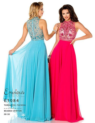 Envious Couture E 1084 Turquoise Size 14 Prom Dress Pageant Gown