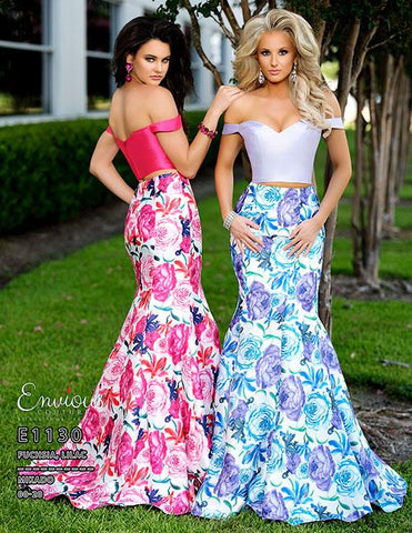 Envious Couture E 1130 two piece mermaid prom dress