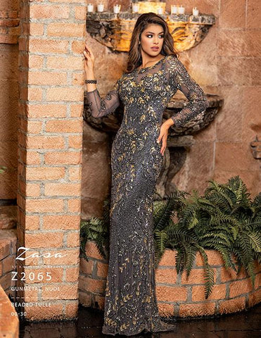 Zasa Chic by Karishma Creations Z 2065 Gunmetal Size 14