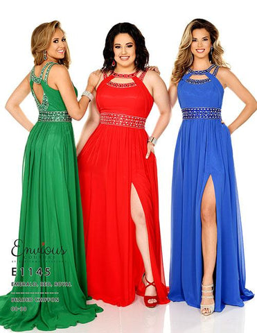 Envious Couture E1145 Royal Size 16 Prom Dress Pageant Gown