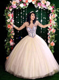 Camila Q Quinceanera Dress 17019 Size 8 Pink Ballgown Princess Corset