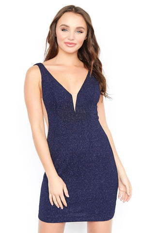 Jolene 19503 plunging neckline fitted homecoming dress