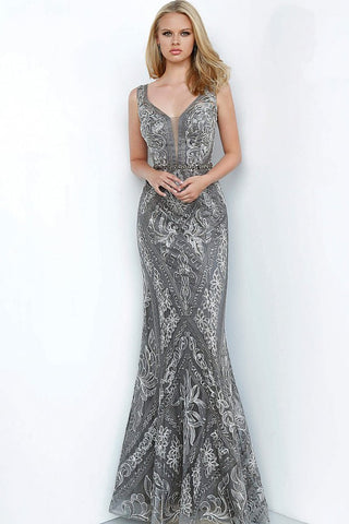 JVN by Jovani 2011 embroidered embellished evening gown