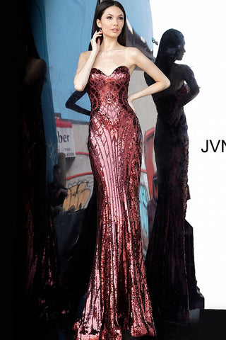 JVN by Jovani 2239 Long Fitted Mermaid 2020 Prom Dress Sequin Embellished Gown