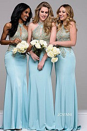 JVN by Jovani 33691 keyhole bodice bridesmaids Prom Gown Pageant dress