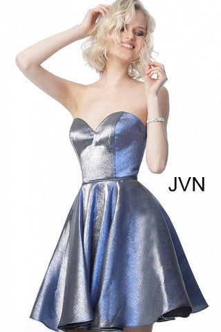 JVN by Jovani 3776 This Beautiful Homecoming Dress features a sweetheart neckline with a fit and flare skirt. This Cocktail Dress features an Iridescent Shimmer Fabric for a Wow factor!