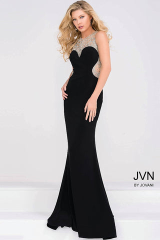 JVN by Jovani 45253 Black size 0 or 10 pageant dress prom gown