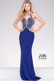 Jovani JVN 47009 size 8 Long Backless Crystal Pageant Dress Prom Gown